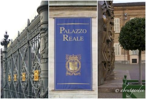 ingresso e cancellata Palazzo Reale Torino