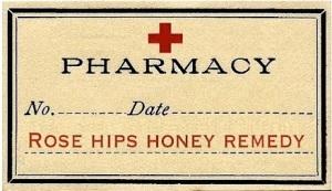 single tag rose hips honey