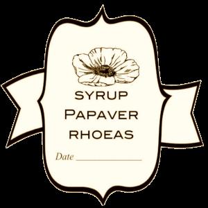 etichette sciroppo di papavero