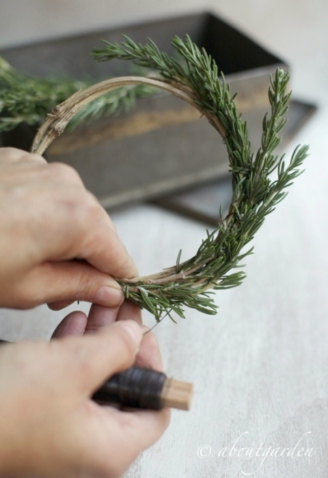 rosmarinus wreath diy