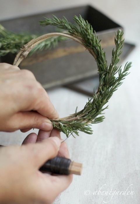rosmarinus wreath diy