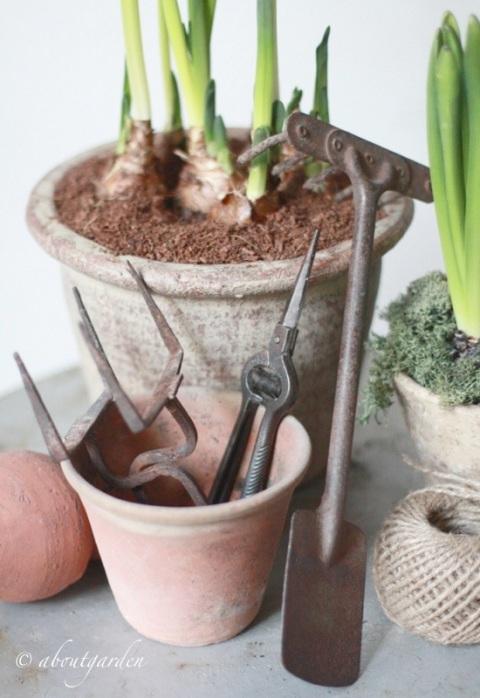 antichi attrezzi da giardino