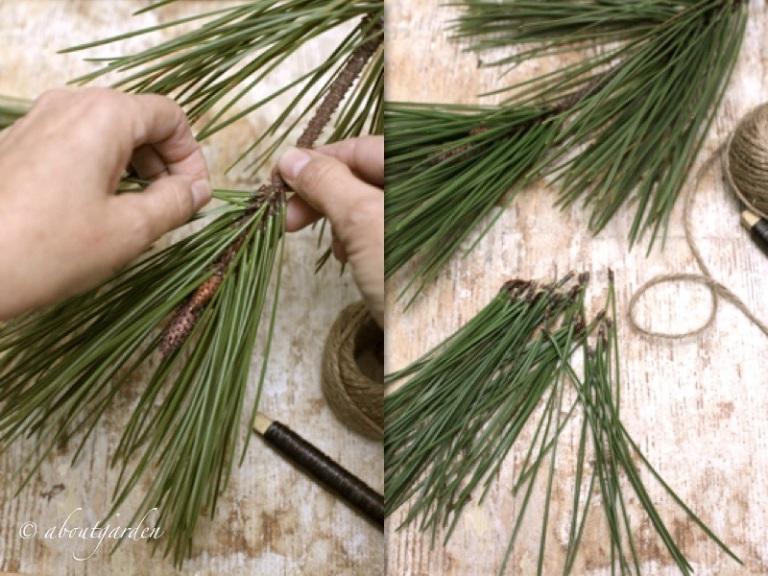 ingredienti nappina con aghi di pino