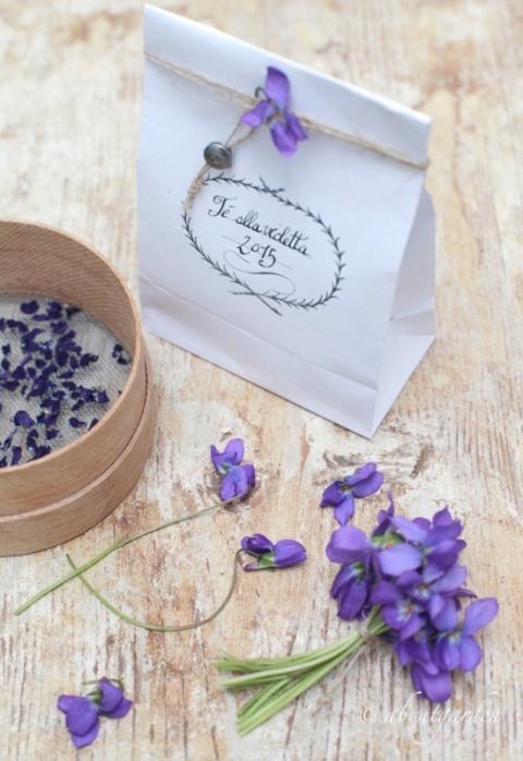 sacchetto violette