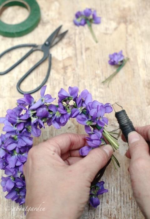 ghirlanda di violette