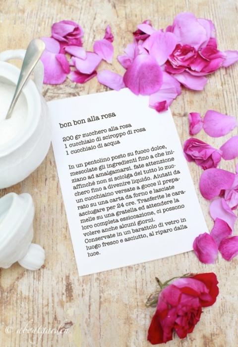ricetta bon bon alla rosa