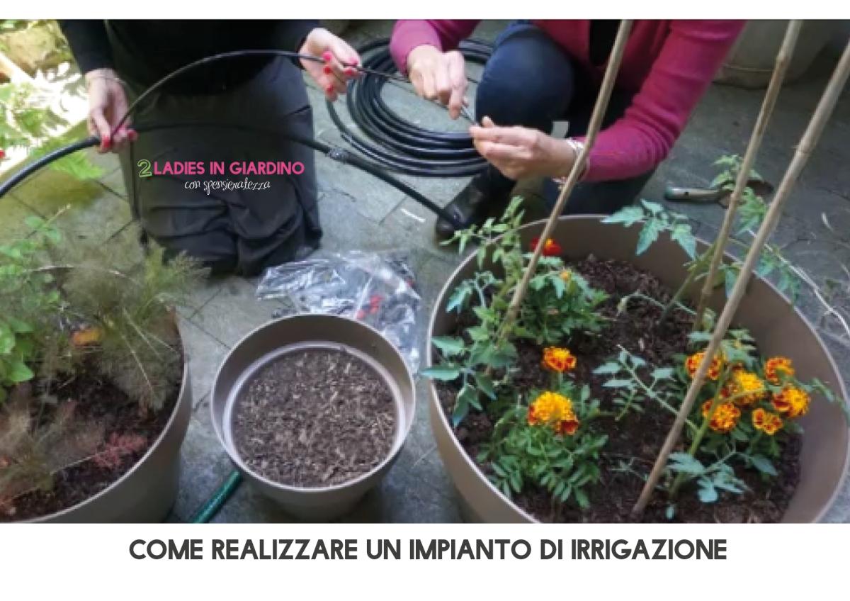 Impianto di irrigazione per vasi con le 2 ladies in for Sistemi di irrigazione a goccia per vasi