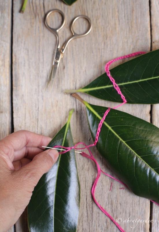 punto-catenella-buntng-foglie-per-dmc