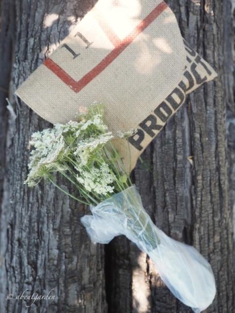 sacchetto plastica fiori di campo