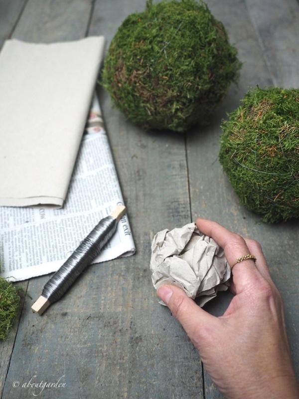appallottolare carta ball di muschio
