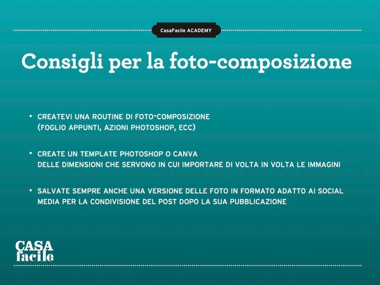 Consigli per la foto-composizione
