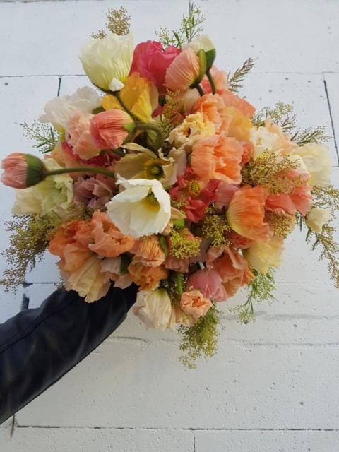 Bouquet Sanremo 3 papaveri